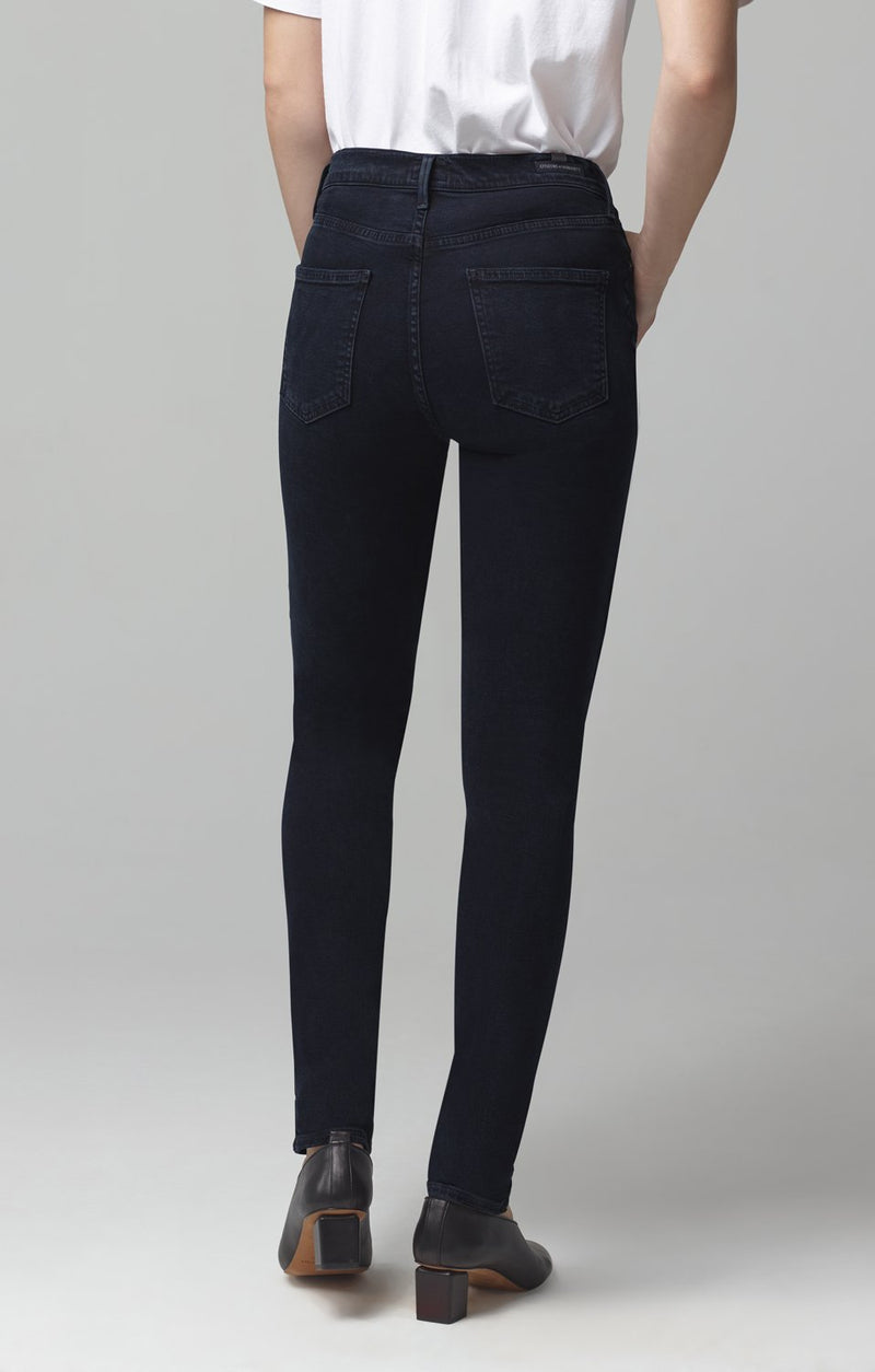 rocket mid rise skinny fit inkwell black wave side