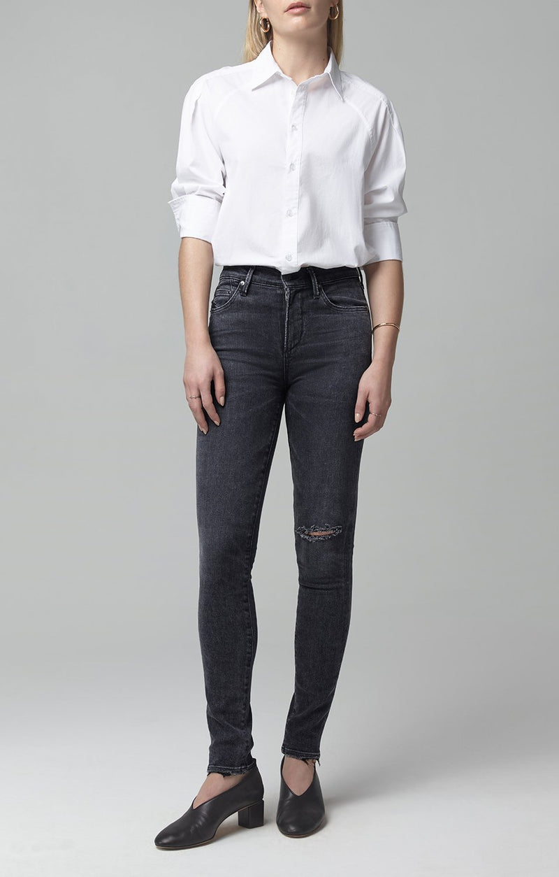 rocket mid rise skinny fit lithe front