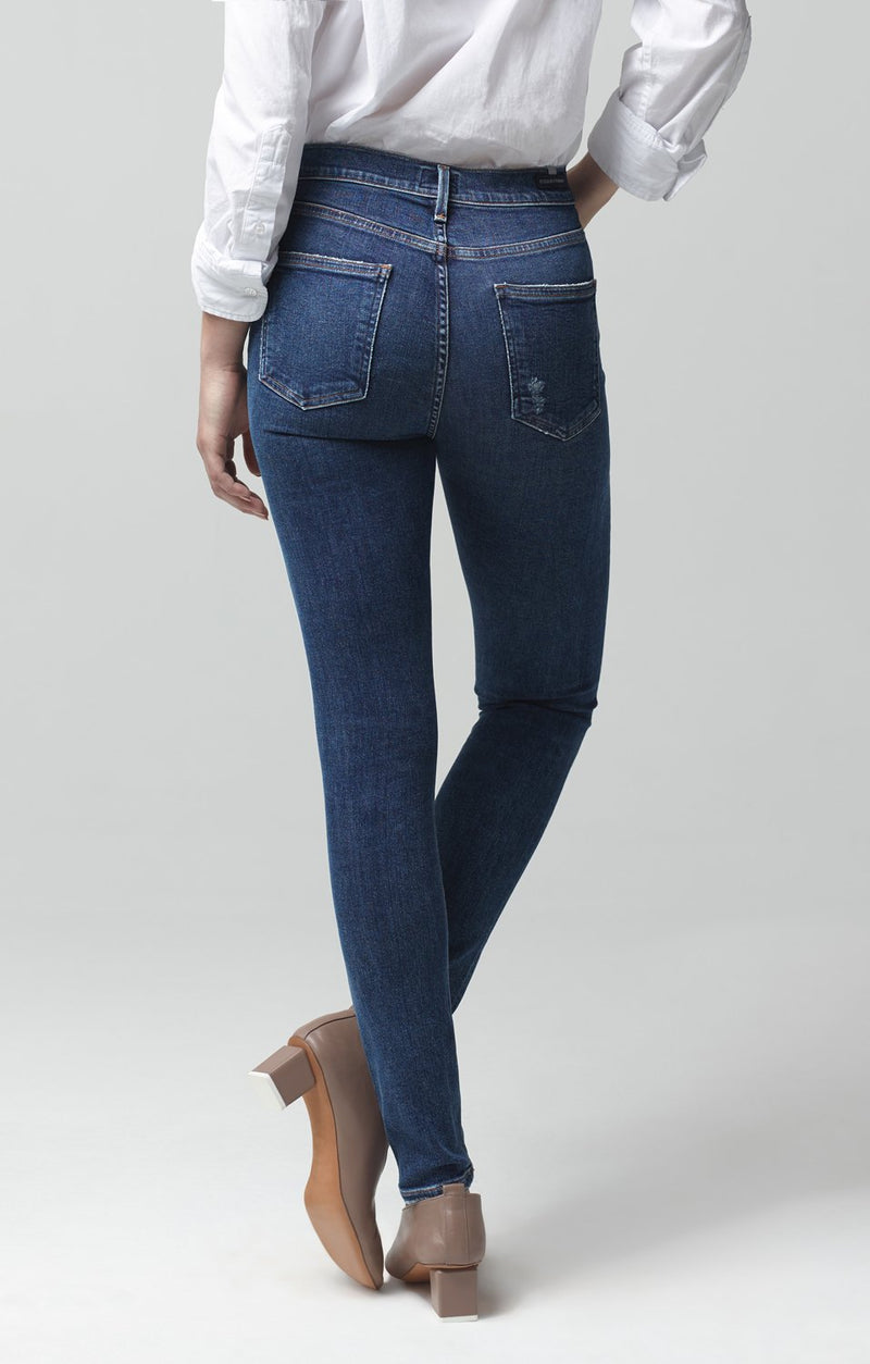 rocket mid rise skinny fit swing low side