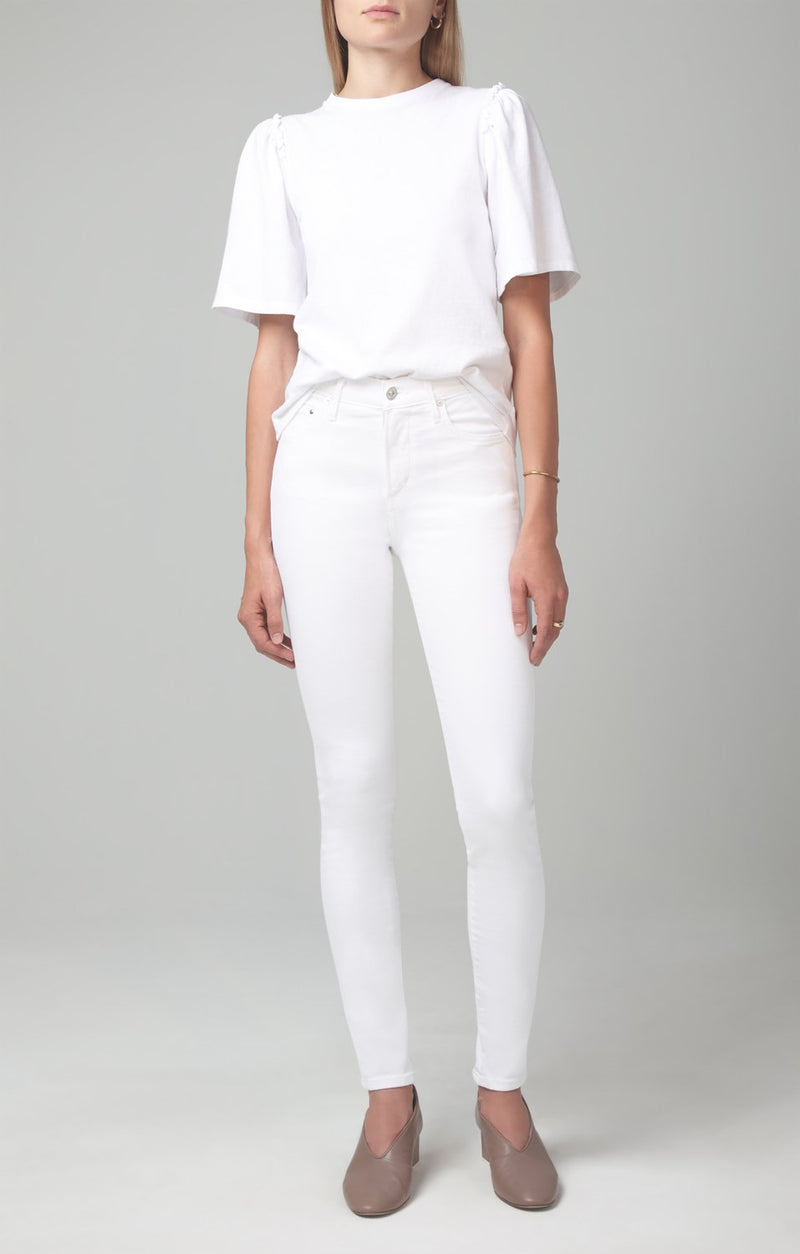 rocket mid rise skinny fit white sculpt front