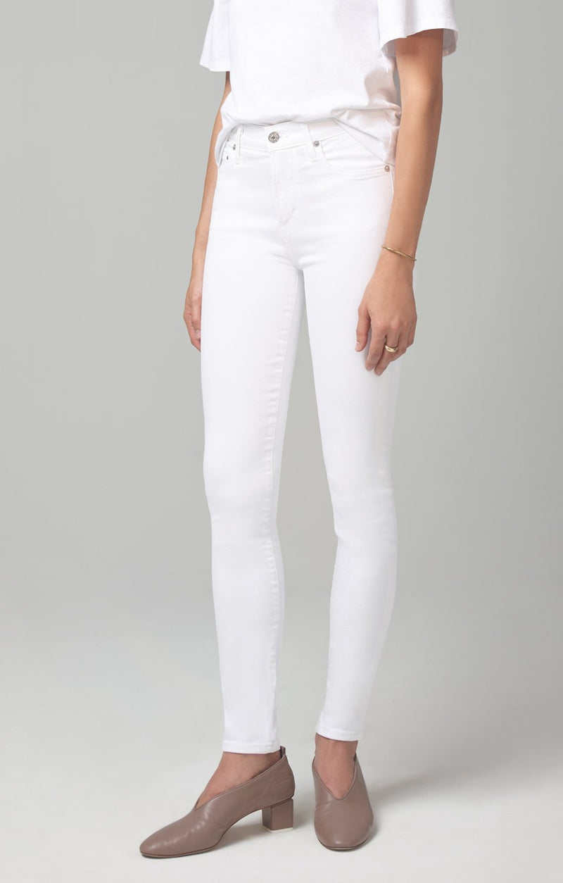 rocket mid rise skinny fit white sculpt back