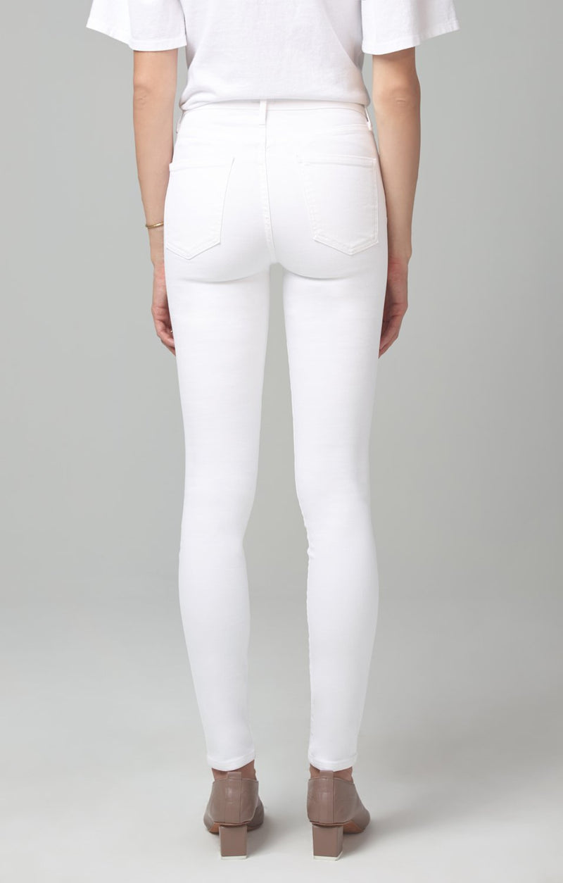 rocket mid rise skinny fit white sculpt side