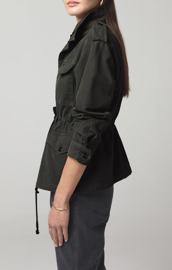 vivienne jacket dark olive side