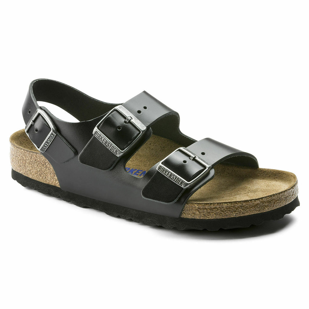 Birkenstock Amalfi Black Milano Leather Unisex - All Mixed Up