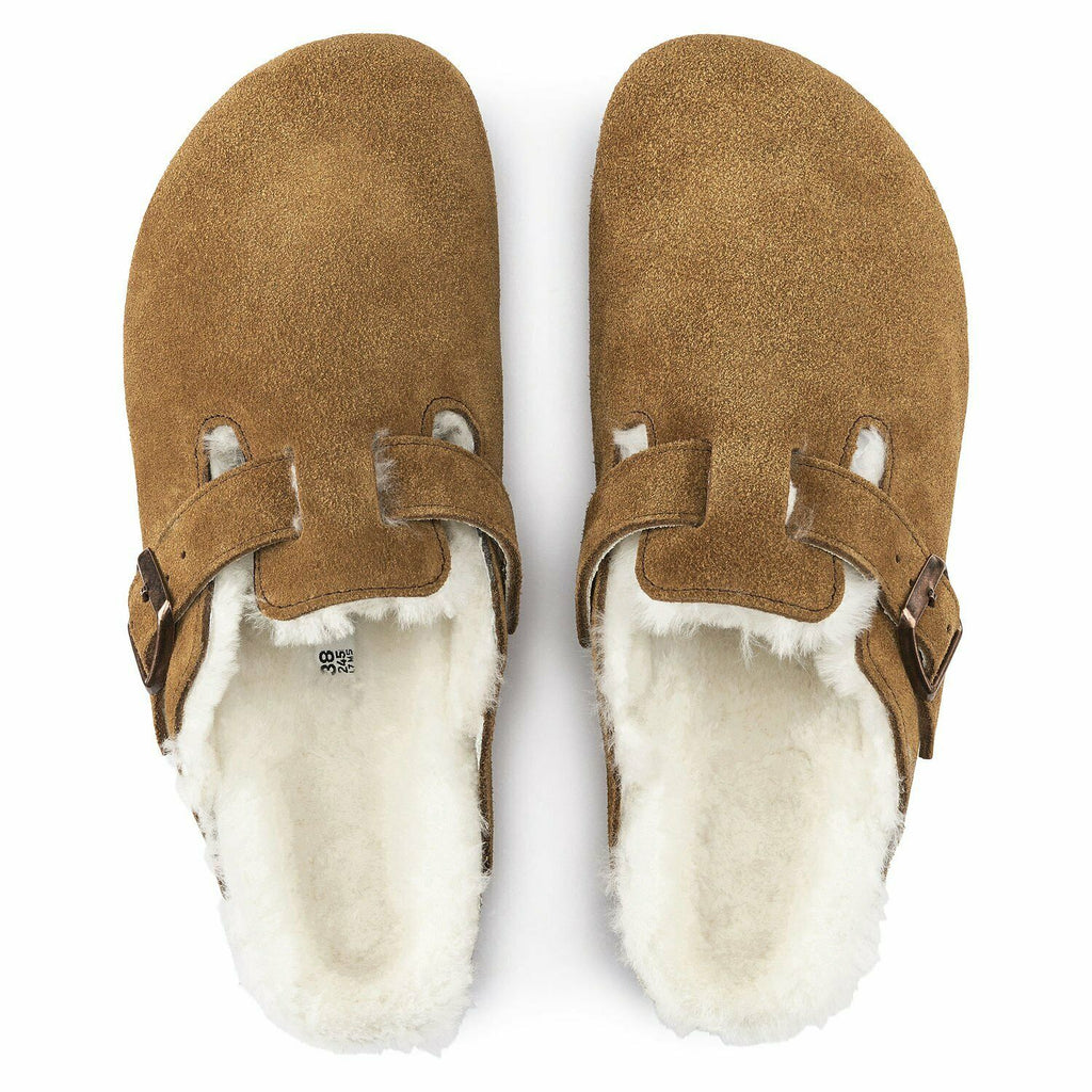 Birkenstock Boston Shearling Fur Mink Womens - All Mixed Up