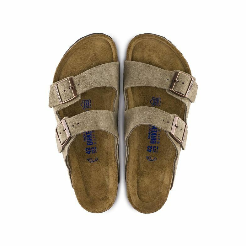 Birkenstock Arizona Taupe Suede Soft Footbed Uni-Sex - All Mixed Up