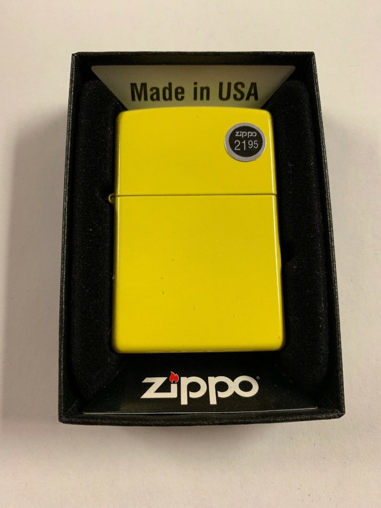 Zippo Lemon Matte Lighter, Yellow Classic, USA Genuine Windproof #24839 - All Mixed Up