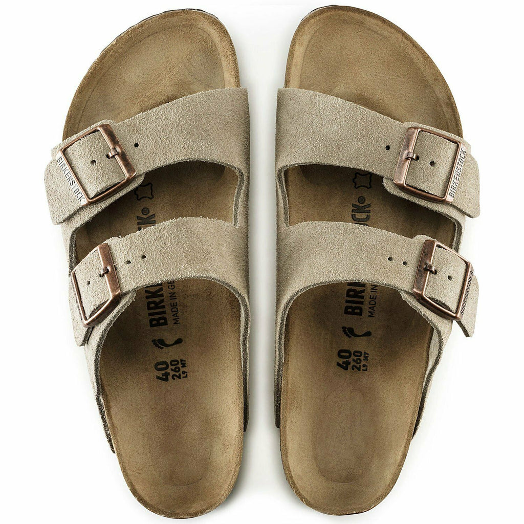 Birkenstock Arizona Taupe Suede HardFootbed Uni-Sex - All Mixed Up