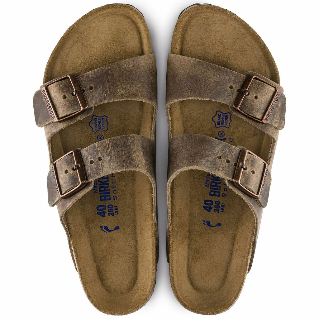 Birkenstock Arizona Tobacco Brown SoftFootbed Uni-Sex - All Mixed Up