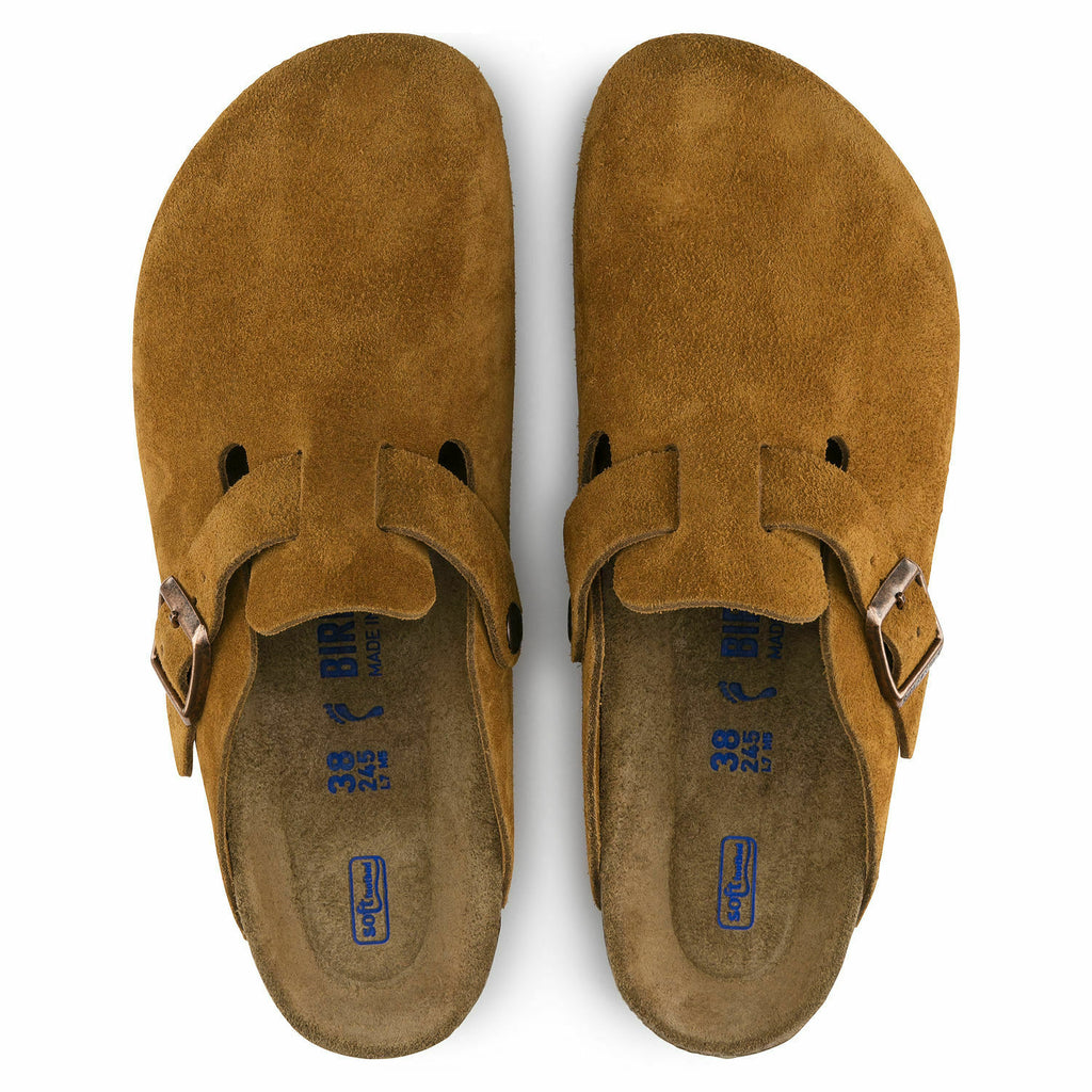 Birkenstock Boston Mink Suede SoftFootbed Womens - All Mixed Up