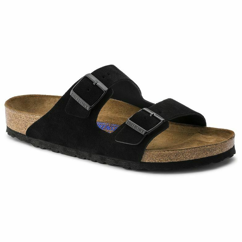 Birkenstock Arizona Black Suede SoftFootbed Uni-Sex - All Mixed Up