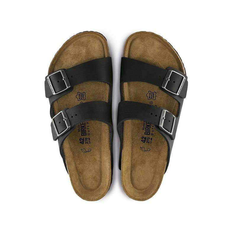 Birkenstock Arizona Black Leather Uni-Sex Soft Footbed - All Mixed Up