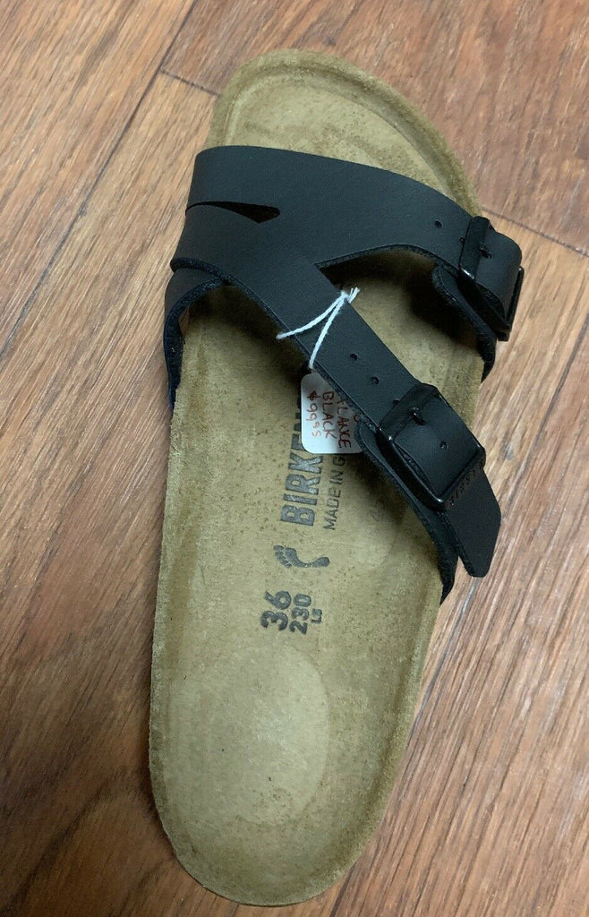 NEW Birkenstock Yao Balance Black Womens Traditional Footbed - All Mixed Up