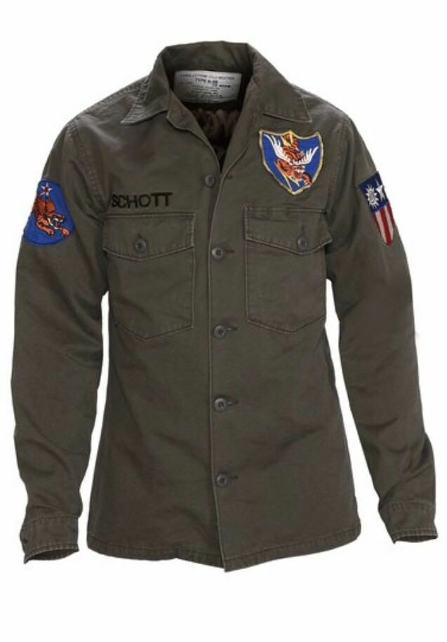 Schott Mens Flying Tenth Fatigue Shirt 8701 Olive XS & S - All Mixed Up