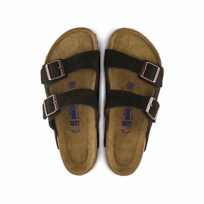 Birkenstock Arizona Mocha Suede SoftFootbed UniSex - All Mixed Up