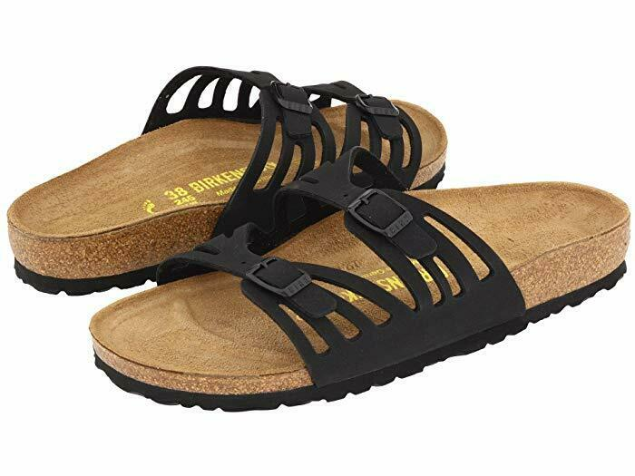 Birkenstock Granada Black Womens Traditional Footbed - All Mixed Up