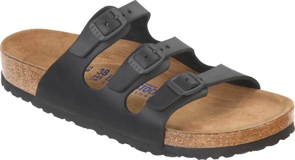 Birkenstock Florida Women's Black SoftFootbed Womens - All Mixed Up