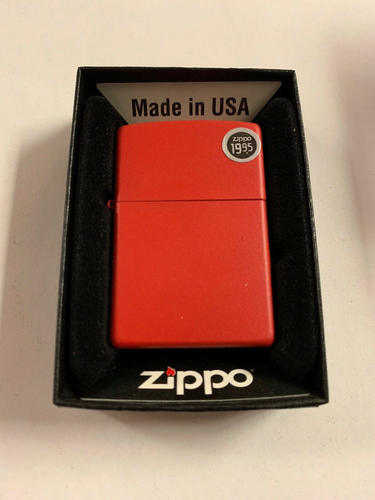 Zippo Red Matte Lighter 233 - All Mixed Up
