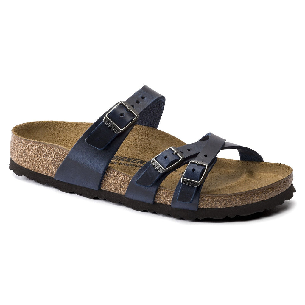 "Birkenstock Franca ""Blue"" Oiled Leather Womens - All Mixed Up"