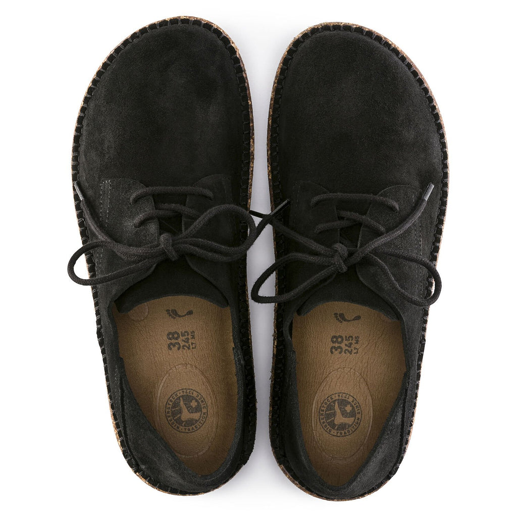 "Birkenstock Gary ""Black"" Suede Leather Lace Up Shoe Unisex - All Mixed Up"