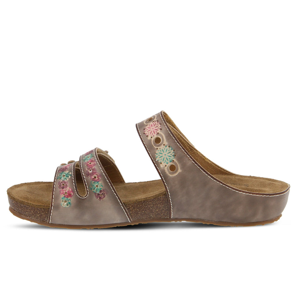 "Spring Step Women's FREESIA SANDAL L'Artiste Style ""Grey"" - All Mixed Up"