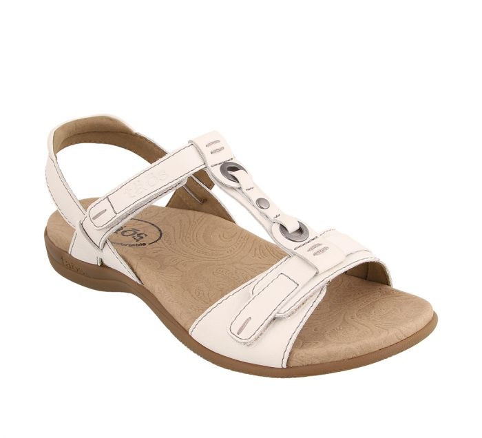 Taos Swifty White Women's T-Strap Sandal - All Mixed Up