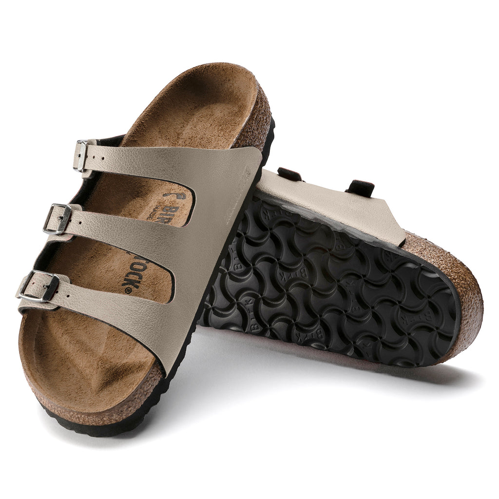 "Birkenstock Florida Fresh Pull Up ""Stone"" BirkoFlor Women's - All Mixed Up"