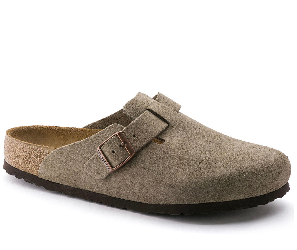 Birkenstock Boston Taupe SoftFootbed Uni-Sex - All Mixed Up