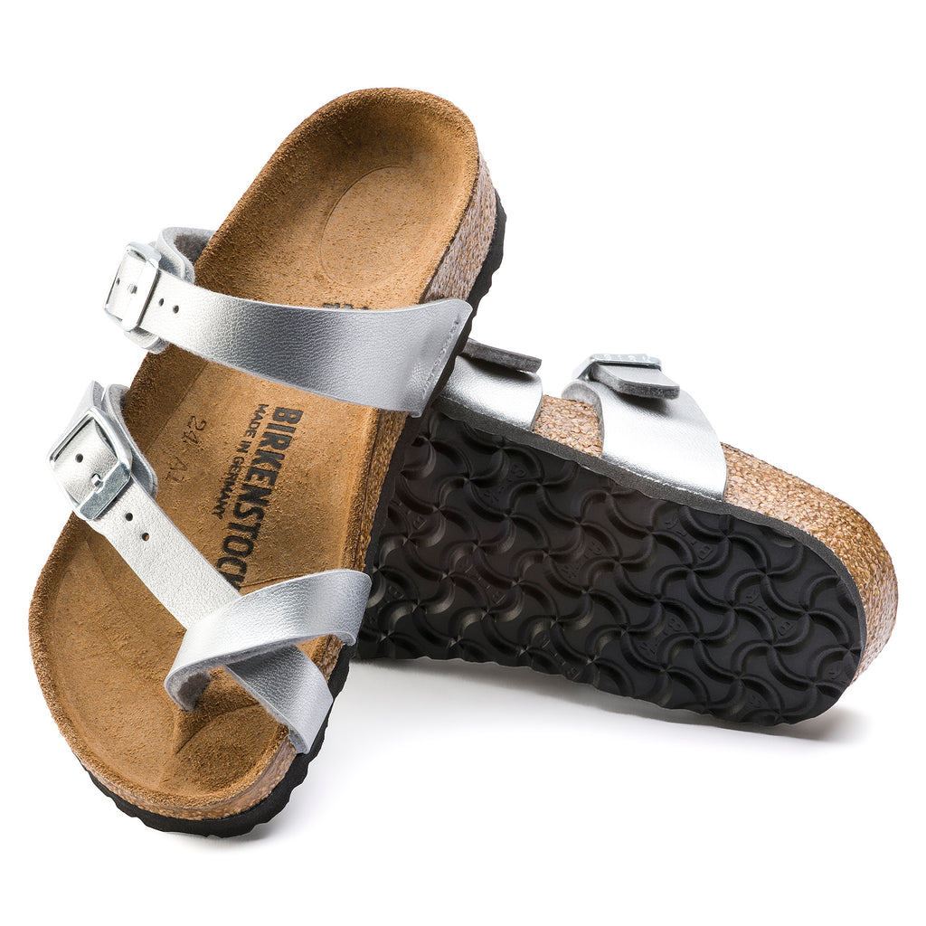 "Birkenstock Kids Mayari BirkoFlor ""Silver"" - All Mixed Up"