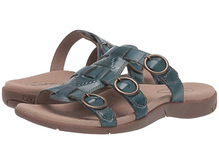 "Taos Footwear Good Times Women's Sandal ""Teal"" - All Mixed Up"