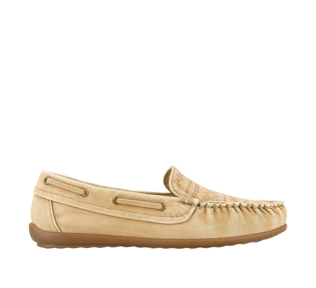 Taos My Hero Sand Vintage Canvas Women's Moccasin - All Mixed Up