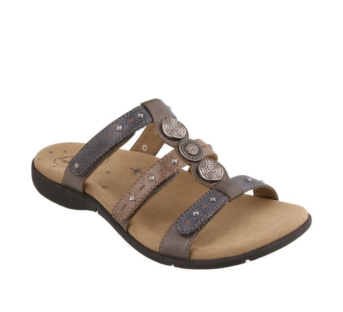Taos Footwear Festive Grey Multi Women's Sandal - All Mixed Up