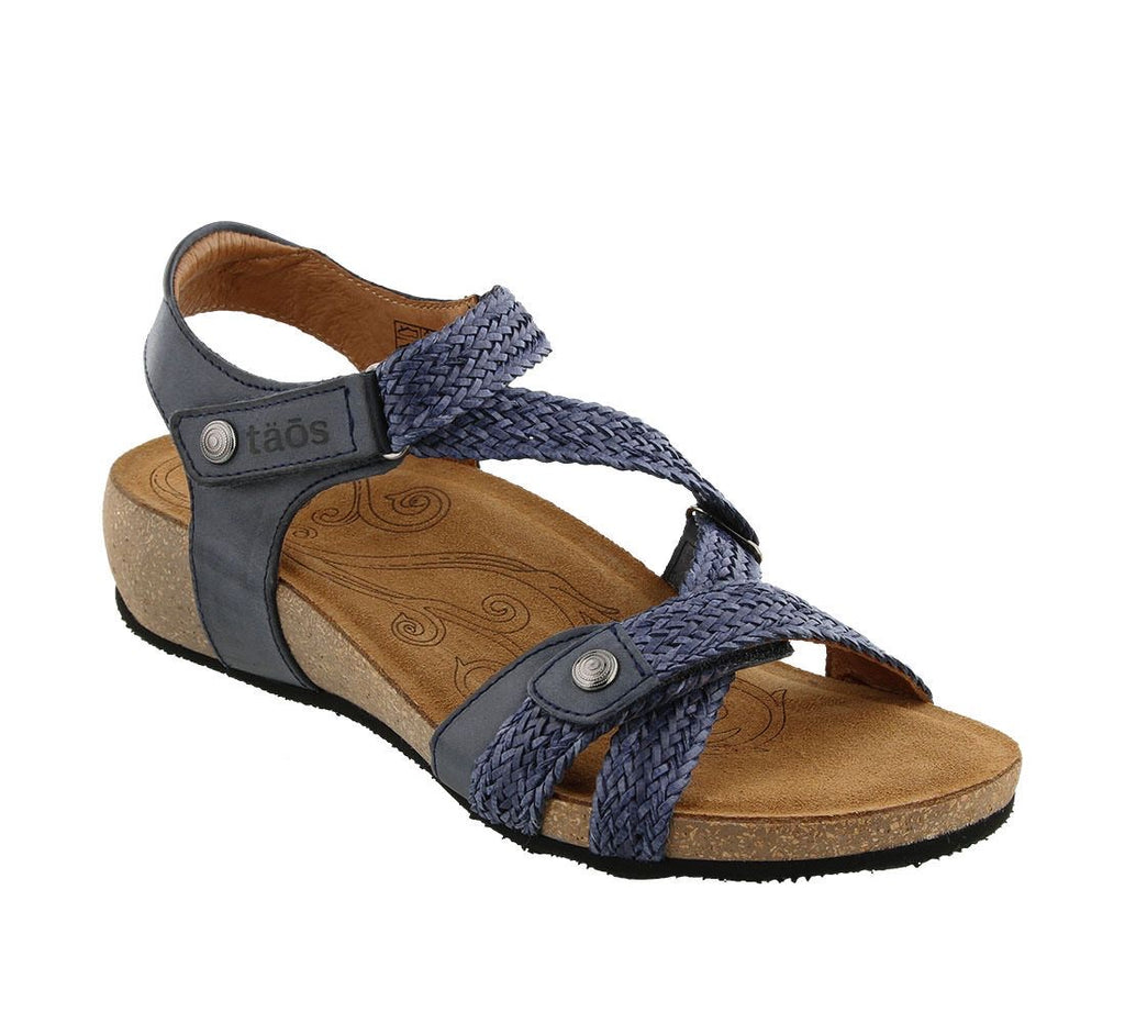 "Taos Footwear Trulie Sandal Women's ""Navy"" - All Mixed Up"