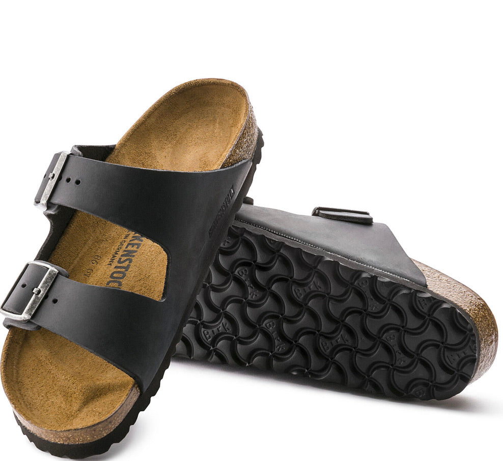 Birkenstock Arizona Black Leather Uni-Sex Traditional Footbed - All Mixed Up