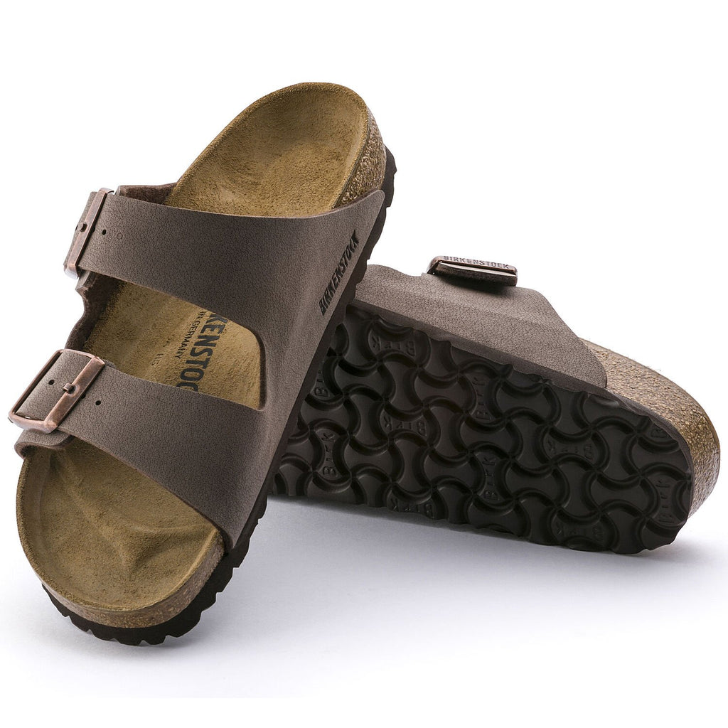 Birkenstock Mocha Arizona Birkibuc Uni-Sex Traditional Footbed