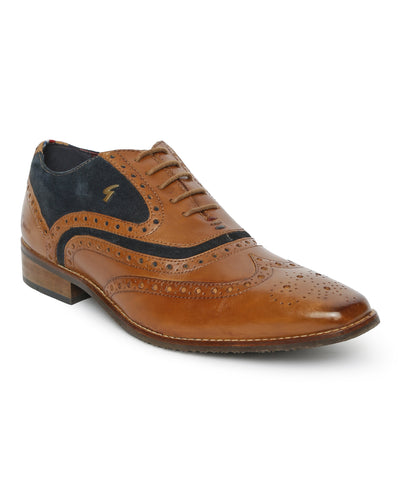 WIZARD OXFORD BROGUE (TAN)