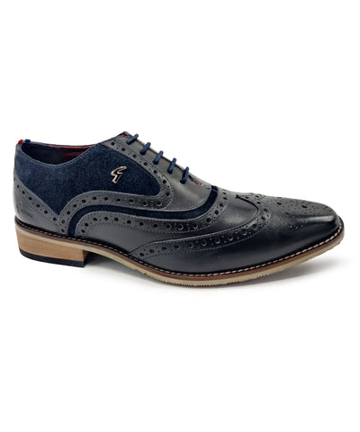 WIZARD OXFORD BROGUE (NAVY)