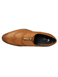 SCOTT ZIP BROGUE (TAN)