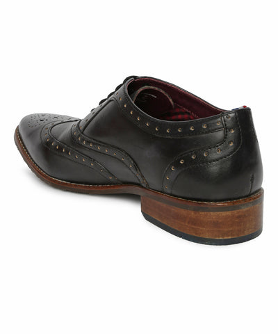 PETERS OXFORD BROGUE - (BLACK)