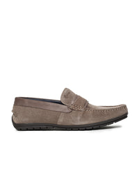 OLLIE SPLIT SADDLE LOAFER (TAUPE)