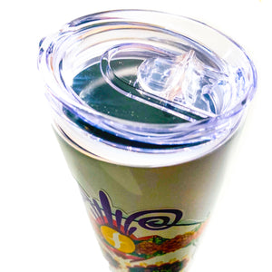 "FLORESTA CAFE - 20 OZ DOUBLE WALL INSULATED SKINNY TUMBLER -""DIA DE MUERTOS"""