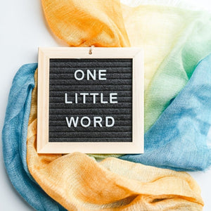 One Little Word - Mini Letterboard