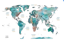 Load image into Gallery viewer, Scratch off World Map - Blue WATERCOLOR