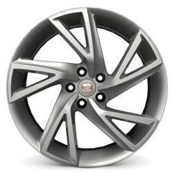 "SEAT Ibiza 17"" Silver Sport Alloy Wheel- Diamond"