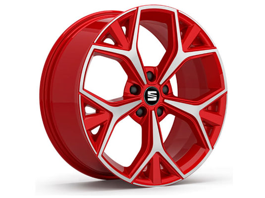 "SEAT Ateca 19"" Aneto Alloy Wheel in Emotion Red"