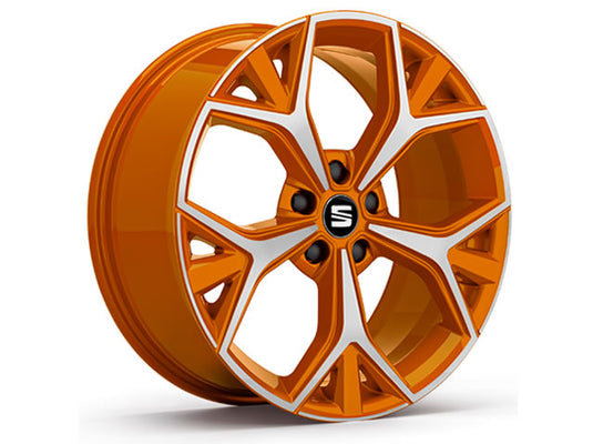 "SEAT Ateca 19"" Aneto Alloy Wheel in Samoa Orange"