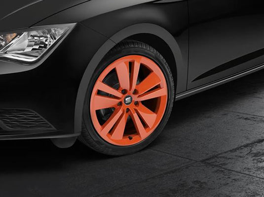 "SEAT Leon 18"" Orange Alloy Wheel"