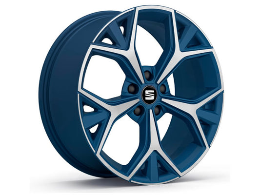 "SEAT Ateca 19"" Aneto Alloy Wheel in Connect Blue"