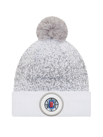LA Clippers On Court Team Pom Cuff Knit Hat