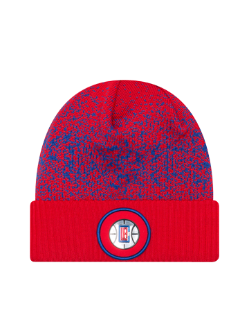 LA Clippers Youth On Court Reverse Team Cuff Knit Hat